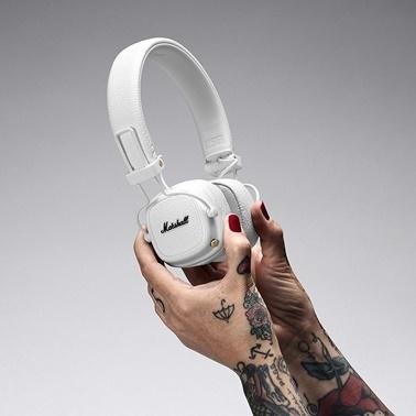 Marshall Major 3 Beyaz Mikrofonlu Kulak Üstü Kulaklik Renkli